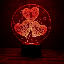 """3D светильник """"I love you"""" 3DTOYSLAMP"""