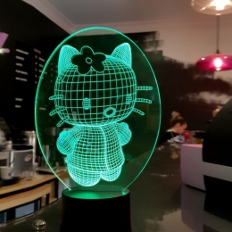 "3D светильник ""Kitty 2"" 3DTOYSLAMP"